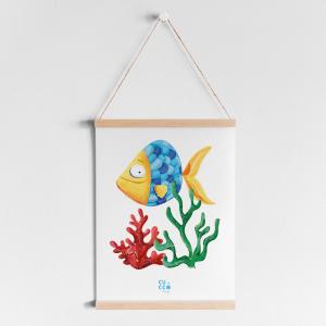 """Print """"Pez coral"""""""
